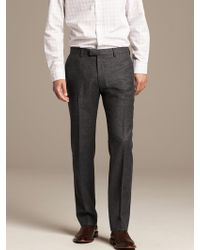 Banana Republic Modern Slim-Fit Charcoal Wool Suit Trouser - Gray
