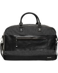 Diesel Cotton  Faux Leather Duffle Bag - Lyst
