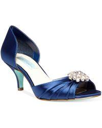 Betsey Johnson Blue By Stun Low Heel Evening Pumps - Lyst