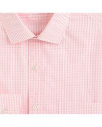 Thomas Mason Thomas Mason For Jcrew Ludlow Shirt in Pink Grid