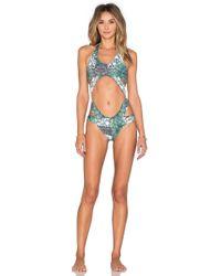 Larissa Minatto - Cut Out Swimsuit - Lyst