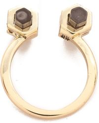 House of Harlow 1960 - Chrysalis Ring - Smokey Quartz - Lyst
