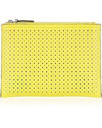 Karen Millen Perforated Pochette yellow - Lyst