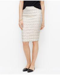 Ann Taylor Petite Tweed Pencil Skirt - Lyst