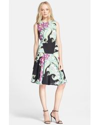 Etro Print Drop Waist Cady Dress - Lyst