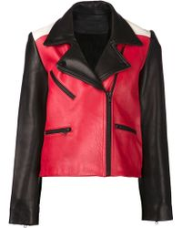 American Retro Black Biker Jacket - Lyst