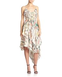 Etro Dream Weaver Silk Ruffle Dress - Lyst