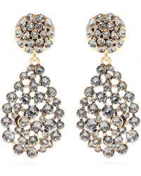 Oscar de la Renta Crystal-Embellished Clip-On Earrigns - Lyst