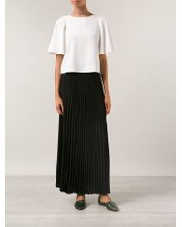 Sea Long Pleated Skirt - Lyst