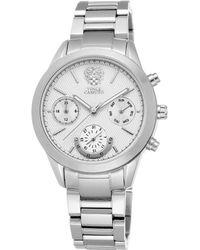 Vince Camuto Ladies Stainless Steel Chronograph Bracelet Watch - Metallic