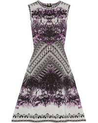 Hervé Léger Printed Cocktail Dress - Lyst