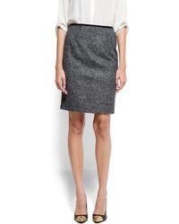 Mango Midi Skirt Wool - Lyst
