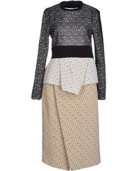 Proenza Schouler Embroidered Irregular Lace Long Sleeve Peplum Dress - Lyst