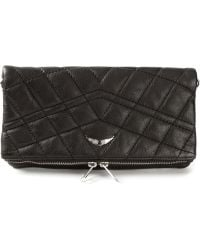 Zadig & Voltaire Quilted Clutch - Lyst