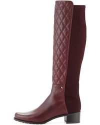 Stuart Weitzman Guard Quilted Leather Knee Boot - Lyst