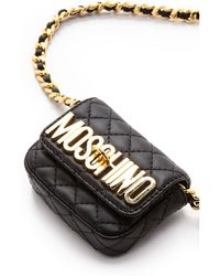 Moschino Tiny Quilted Chain Bag Black - Lyst