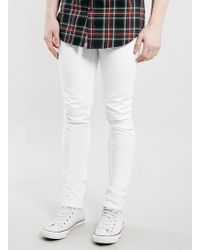 Topman White Stretch Skinny Jeans - Lyst