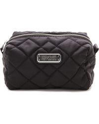 Marc By Marc Jacobs Crosby Quilt Large Cosmetic Case - Black - Lyst