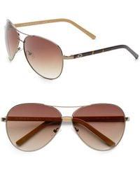 Sunglasses Metallic Sunglasses Aviator 63mm Aviator Aviator Metallic 63mm iOXkTPZu