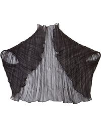 Cornelia James | Mia Silk Pleat Shrug | Lyst