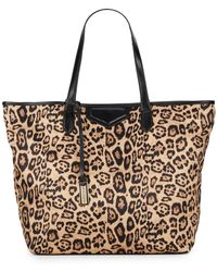 Urban Originals Balina Leopard-Print Coated Nylon Tote - Lyst