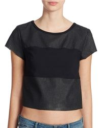 Guess Perforated Block Top - Lyst