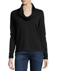 James Perse Cowl-neck Long-sleeve Pullover - Lyst