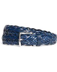 Brooks Brothers Leather Braided Belt - Lyst