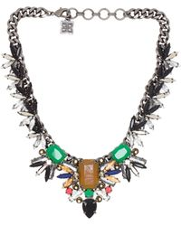 BCBGMAXAZRIA Gemstone Spike Necklace - Lyst