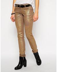Zadig & Voltaire Zadig and Voltaire Darkside Deluxe Coated Jeans - Lyst
