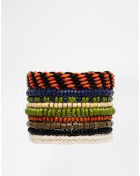 Asos Beaded and Woven Bracelet Pack - Lyst