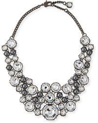 St. John - Crystal Octagon Link Necklace - Lyst