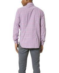 Culturata - Point Collar Small Plaid Shirt - Lyst