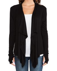 Dolan - Long Sleeve Drape Neck Cardigan - Lyst
