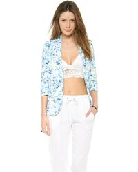 Lovers + Friends - Lovers Friends Marigold Blazer Abstract Floral - Lyst