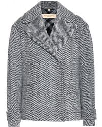 Burberry Brit Charlesworth Herringbone Wool Pea Coat - Lyst