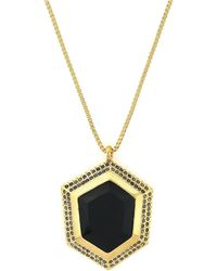 Vince Camuto - Faceted Hexagon Pendant Necklace - Lyst