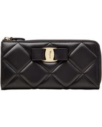 Ferragamo Gelly Quilted Leather Wallet - Lyst