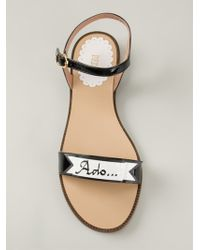 RED Valentino Ribbon Detail Sandals black - Lyst