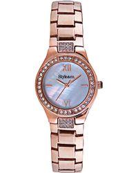 Style & Co. Style&co. Women's Rose Gold-tone Bracelet Watch 28mm Sc1428 - Metallic
