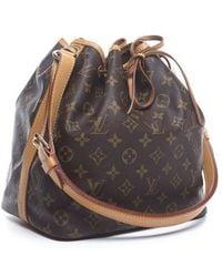 Louis Vuitton Pre-owned Monogram Canvas Petite Noe Bag - Lyst