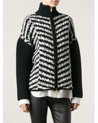 Emanuel Ungaro Chevron Pattern Zip Jacket - Lyst