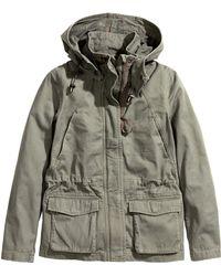 H&M Cargo Jacket - Lyst