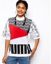 Asos Puma For Panelled Boyfriend T-Shirt - Lyst