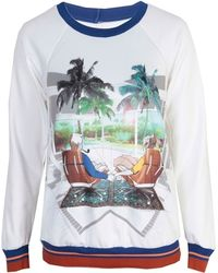 Clover Canyon - Eames Couple Sweatshirt Fleece - Lyst