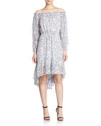 Diane von Furstenberg Camila Off-Shoulder Silk Dress - Lyst