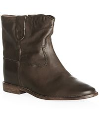 Isabel Marant Ãtoile Cluster Leather Ankle Boot - Lyst
