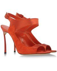 Casadei Sandals red - Lyst