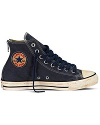 Converse Vintage Washed Twill Hi Top Sneakers - Lyst