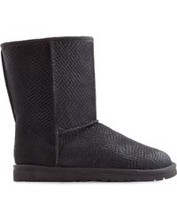Ugg Embossed Calf Hair Boots - Lyst